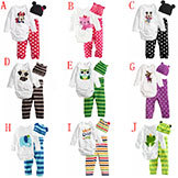 Baby Rompers Long Sleeve Cotton Baby Infant Cartoon Animal Newborn Baby Clothes Romper Hat Pants Clothing Set