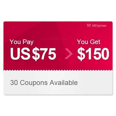 AliExpress US $150.00 Coupon can be used on a single transaction over US$499