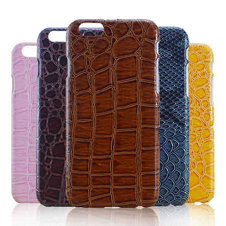 Plastic Crocodile Lines Hard Skin Mobile Phone Case Cover For Apple iPhone 6 4.7