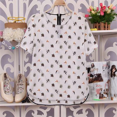 Women's Casual Printed Chiffon T-Shirt