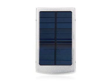 Solar Power Charger w/ Dual-USB Interface 10000mAh Sliver