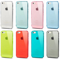 Ultra Thin High Transparent Crystal Clear Soft Gel TPU Case For iPhone 5 5S Welcome Mixing Colors