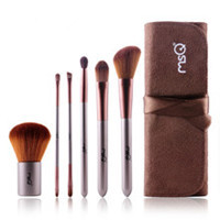 MSQ 6 pcs Elegant Coffee Color Make Up Brush Set