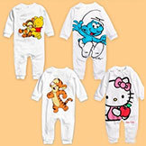 Baby Romper Sets Long Sleeve Jumpsuits Girls' Boy's Hello Kitty Rompers Baby Lovely Smurfette Cotton Mickey Romper