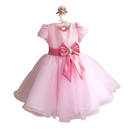 2015 New Fashion Girl Dress Pink Party Children Dress For Summer Kids Clothing 6pcs/LOT Free Shipping GD11116-01