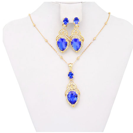 African18K Gold Plated Pendant Fashion Costume African Fashion Jewelry Sets