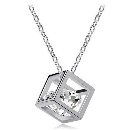 Cubic Crystal Pendant Heart Zircon Pendant Free Shipping