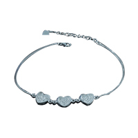 Heart Bracelet Mirco Pave Real Silver Gift