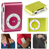 Metal MP3 Player w/ Clip Support Micro SD Card 8 Colors