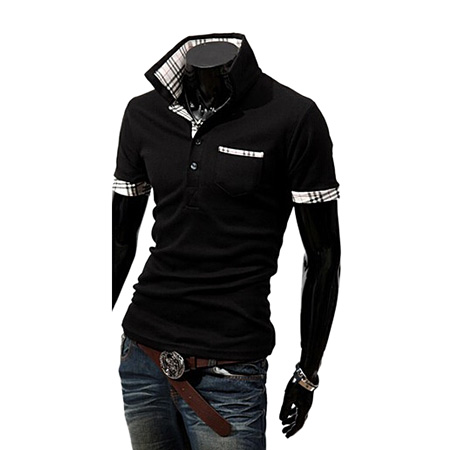 Group deal SALE Selling three one thousand British fashion explosion models short-sleeved summer shirt POLO shirt Q01 Paul