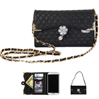 Shoulder Chain Purse Design Leather Wallet for Samsung Galaxy S5 Case G900 i9600