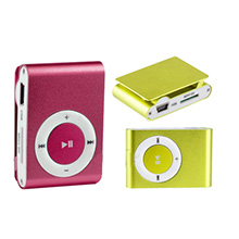 Mini MP3 Player USB c/ Clipe Suporte Micro SD 1-8GB