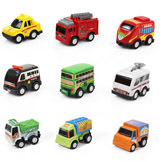 Kids' Plastic Pull-Back Car Model Toy Multi-Colors