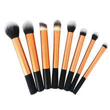 8 Piece Gold Color Brush Set, Personalized Makeup Brush Set,Professional Makeup Brush Set