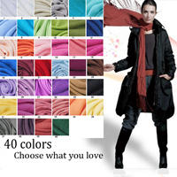Fashion Plain Design Shawl Scarf Stock 40 Colors Wholesale Price 100% Cashmere
